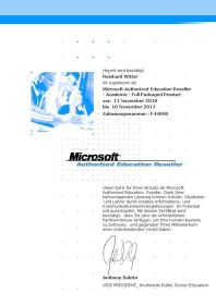 Microsoft Authorized Education Reseller - Full Packaged Products